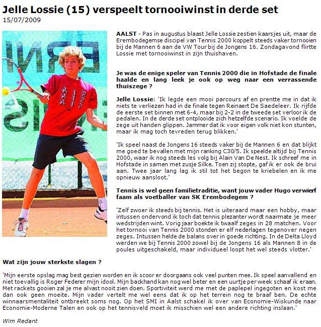 slagen bij tennis